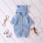Knit jumpsuit (Lyseblå) (100% Bomuld)